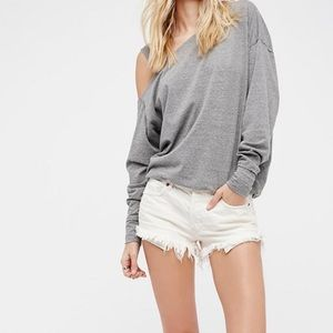 Free People Uptown High Waisted White Shorts 28